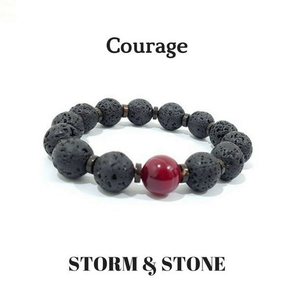 Copy of 12MM - COURAGE VOLCANIC STONE BRACELET
