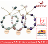 GUCESY Personalized Name Natural Crystal Pearl Bracelet Hadiah GIFT GIVING READY Custom Name