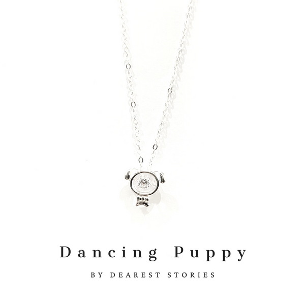 D011 - 925 SILVER - DANCING PUPPY