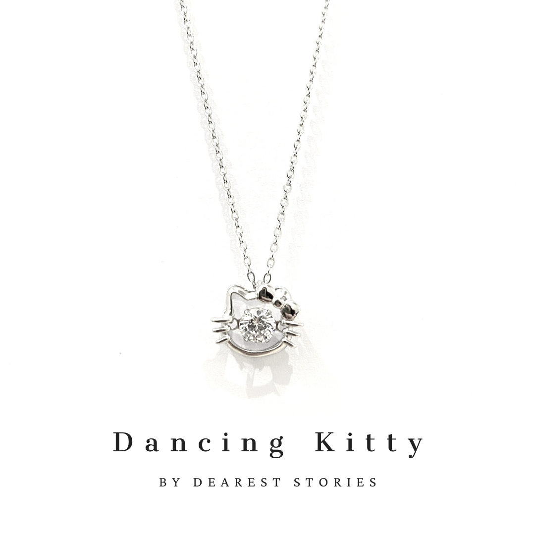 D012 - 925 SILVER - DANCING KITTY