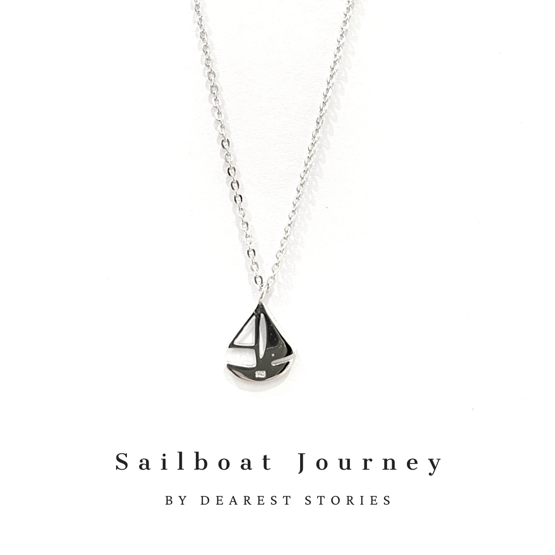 D032 - 925 SILVER - SAILBOAT JOURNEY