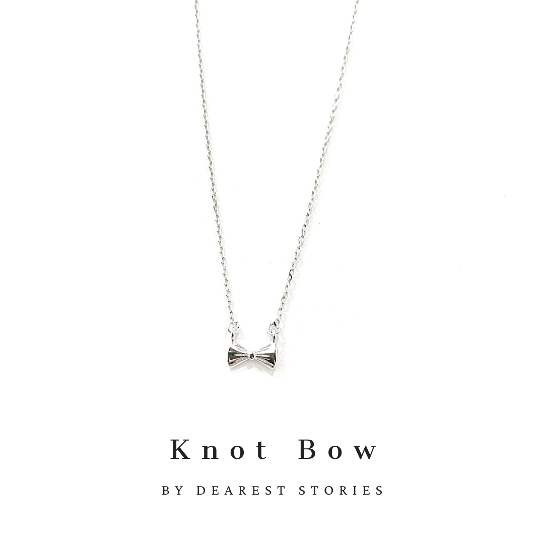 D047 - 925 SILVER - KNOT BOW