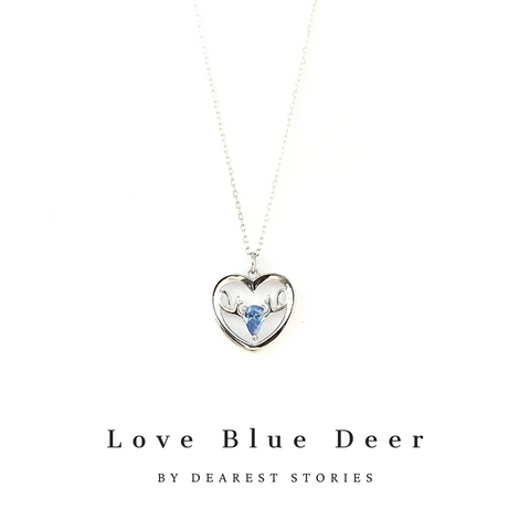 D063 - 925 SILVER - Love Blue Deer