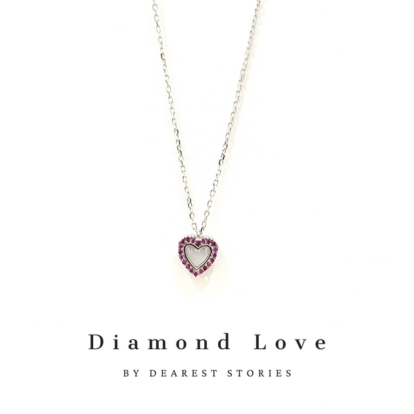 D073 - 925 SILVER - Diamond Love
