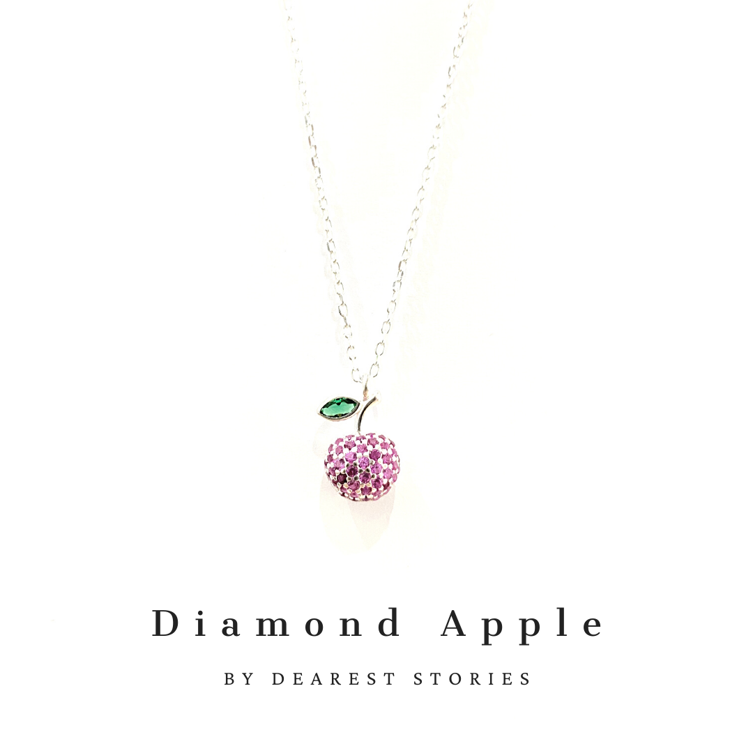 D083 - 925 SILVER - Diamond Apple(pink)