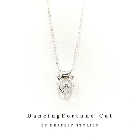 D003 - 925 SILVER - DANCING FORTUNE CAT