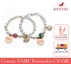 GUCESY Personalized Name Zircon Shell Pearl Bracelet Hadiah GIFT GIVING READY Custom Name