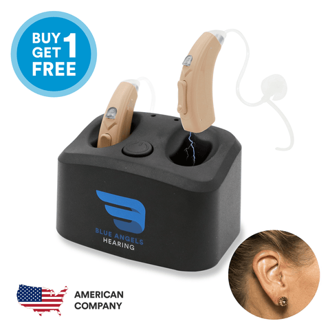 Behind the ear hearing aids are subtle and seem invisible.