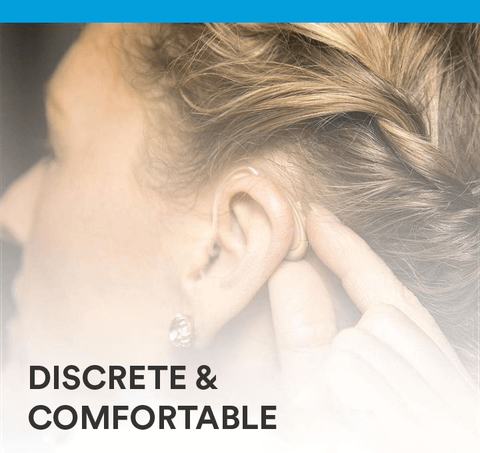 Behind-the-ear hearing aids can be discrete and comfortable, the perfect combination for most people experiencing hearing loss