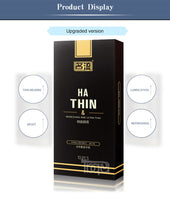 (Free for our value custom) Only one per custom!!Condoms 0.034mm Hyaluronic acid Nature latex 10pcs ultra thin nourish Lubricating Male condoms for men Moisturizing sex products