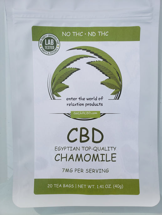 GoChillCBD  CBD  Tea Bag - 140mg (20 Bag)