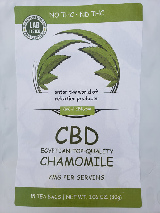 GoChillCBD  CBD Tea Bag -105mg (15 Bag)