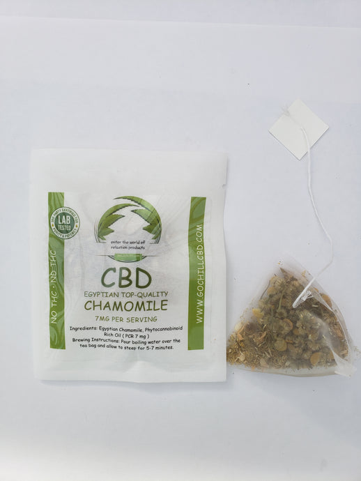GoChillCBD  CBD  Tea Bag  - 7mg (1 Bag)