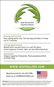 GoChillCBD CBD Tea Bag - 70mg (10 Bags)