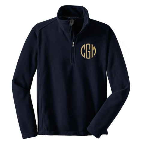 Monogrammed Fleece Quarter Zip