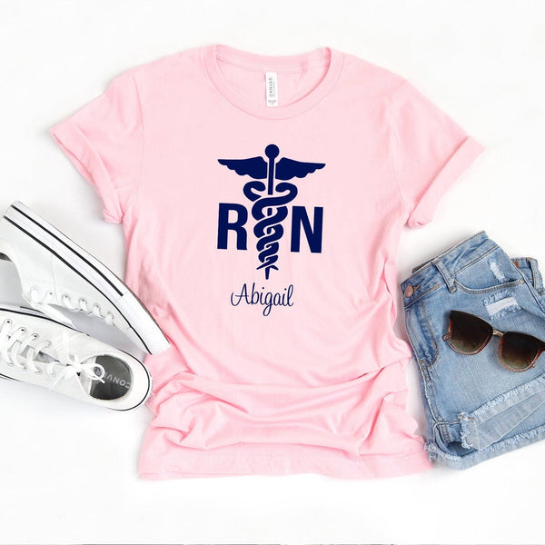 Personalized Caduceus Nurse T-shirt