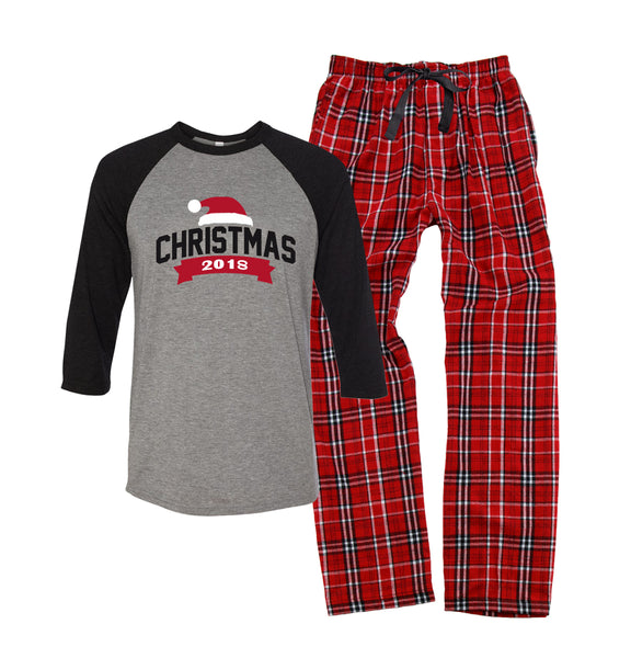 Christmas 2018 Santa Hat Pajama Set