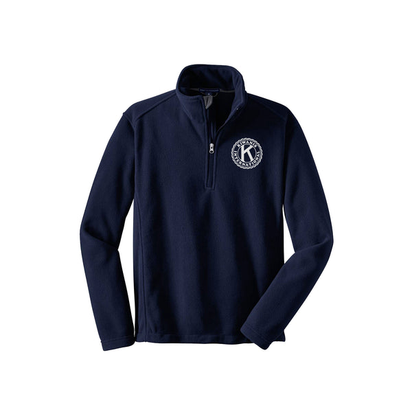 Kiwanis Quarter Zip Fleece Pullover