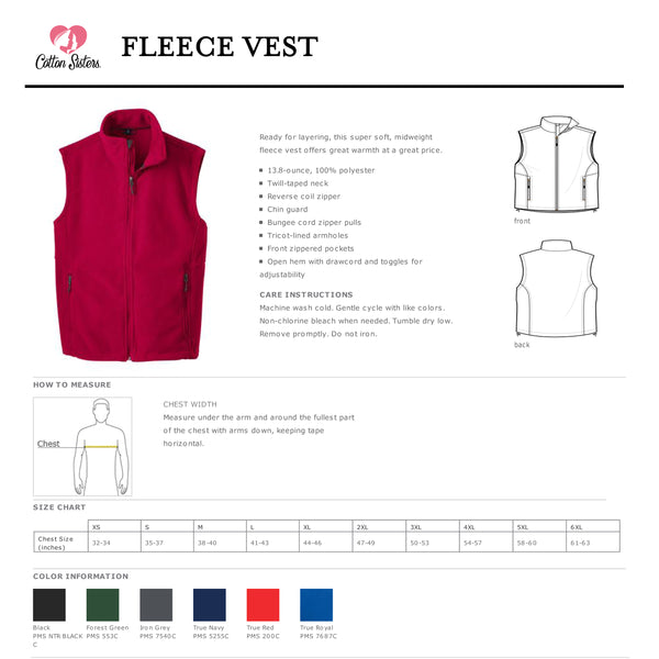 Men's Nurse Monogrammed Fleece Vest
