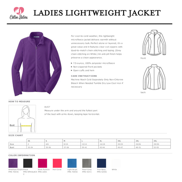 Nurse Lightweight Fleece Jacket - LADIES