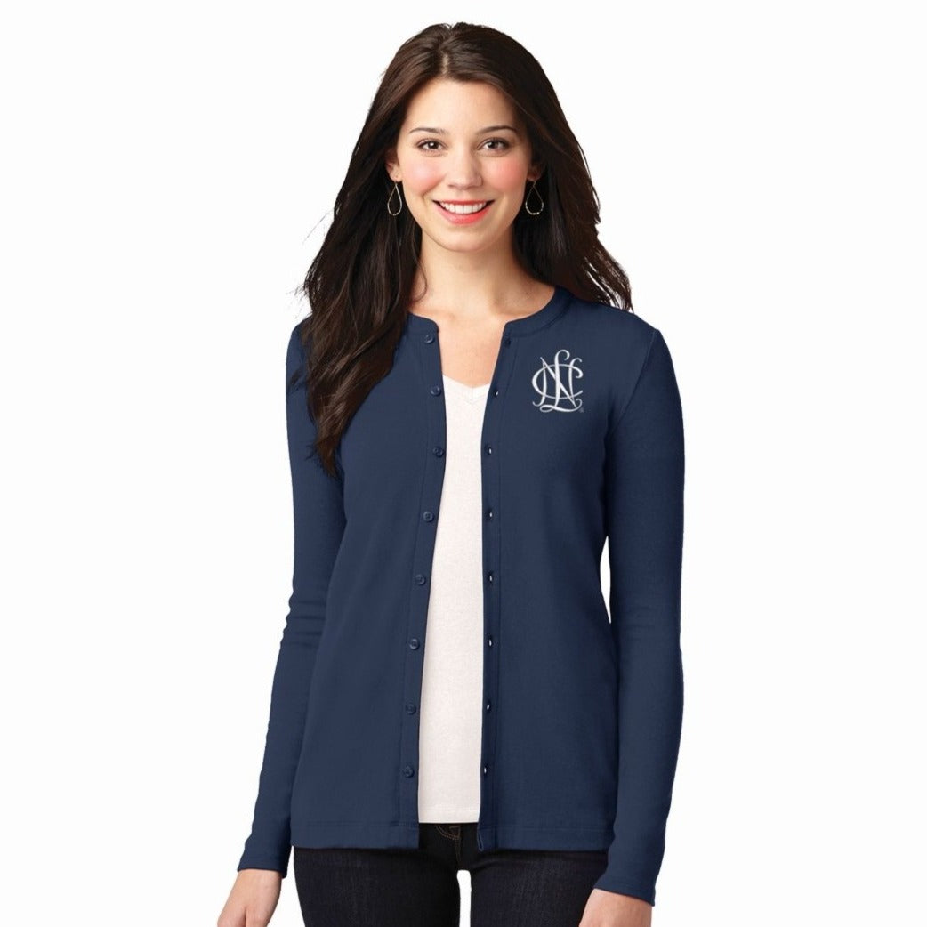 National Charity League Cotton Modal Stretch Lightweight Cardigan