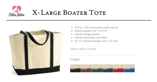 Conejo Valley Chapter NCL Canvas Boat Tote