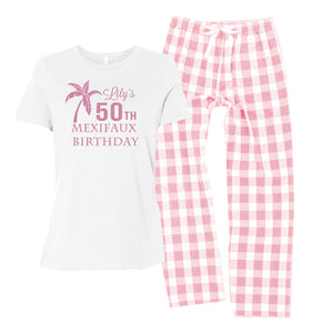 Personalized Pajamas - Pink Buffalo Plaid