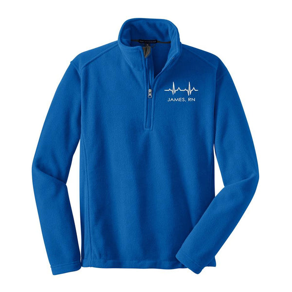 Male Nurse Quarter Zip Fleece Pullover - UNISEX