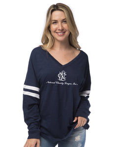 National Charity League Varsity Slub Long Sleeve Tee