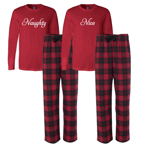 Naughty and Nice Flannel Pajama Set