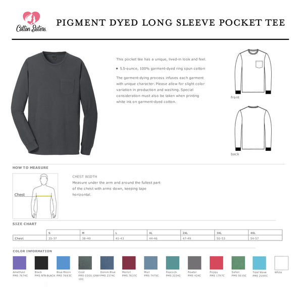 Monterey Bay NCL Pigment-Dyed Long Sleeve Pocket Tee