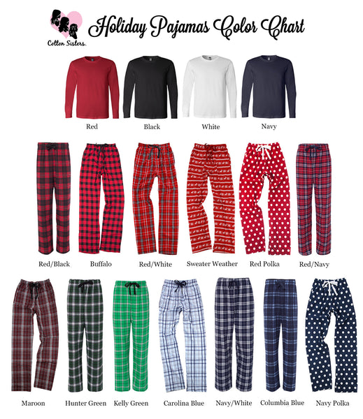Personalized Christmas Flannel Pajama Set