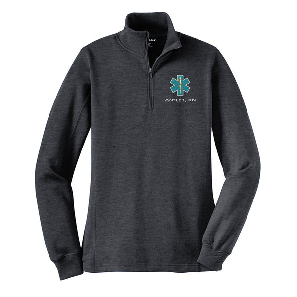 Ladies 1/4-Zip Nurse Sweatshirt