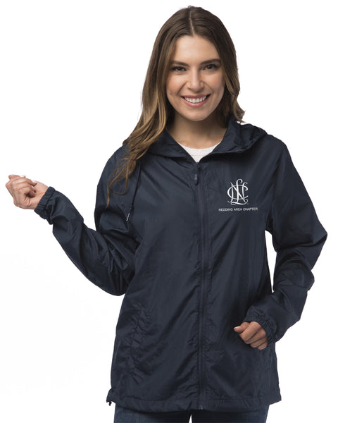 Redding Area Chapter NCL Water-Resistant Lightweight Windbreaker Zip-Up Jacket