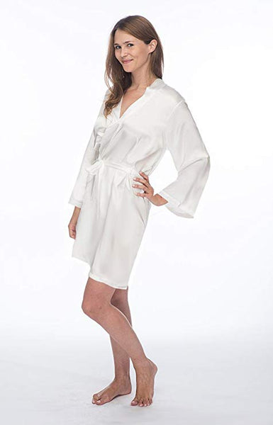 Mr. and Mrs. Satin Robe Set