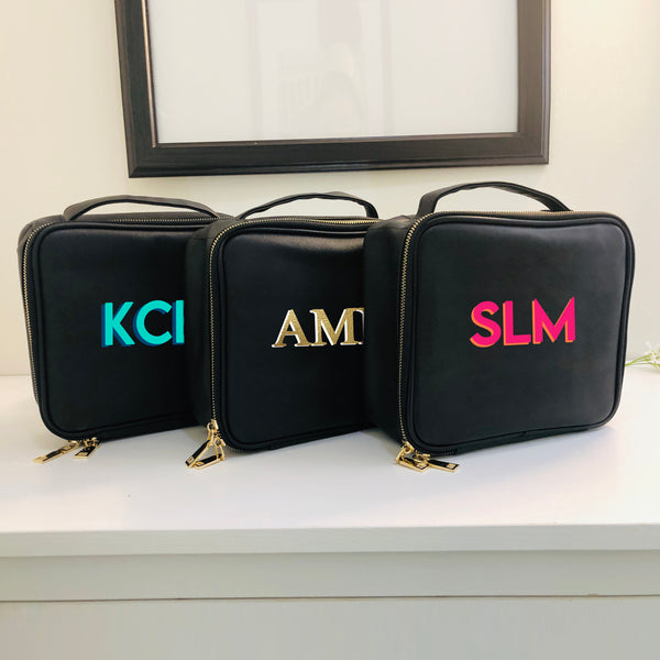 Personalized Cosmetic Case with Shadow Monogram