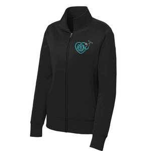 Ladies Sport-Wick® Fleece Nurse Track Jacket