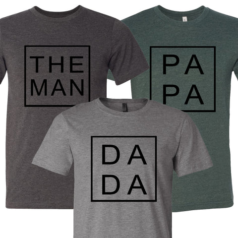 Father's Day Square Collection T-Shirts
