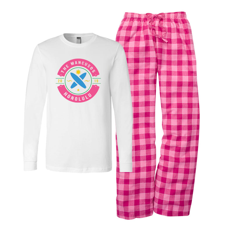 Personalized Family Vacation Pajamas - Surf Style