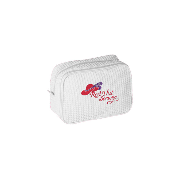 Red Hat Society Waffle Cosmetic Bag