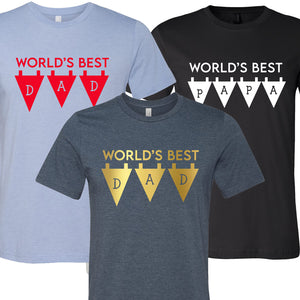 World's Best Dad Banner T-Shirt