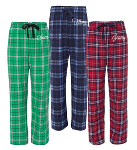 Personalized Christmas Flannel Pajamas