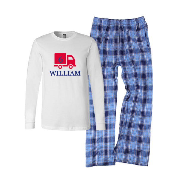 Personalized Birthday Boy Flannel Pajama Set
