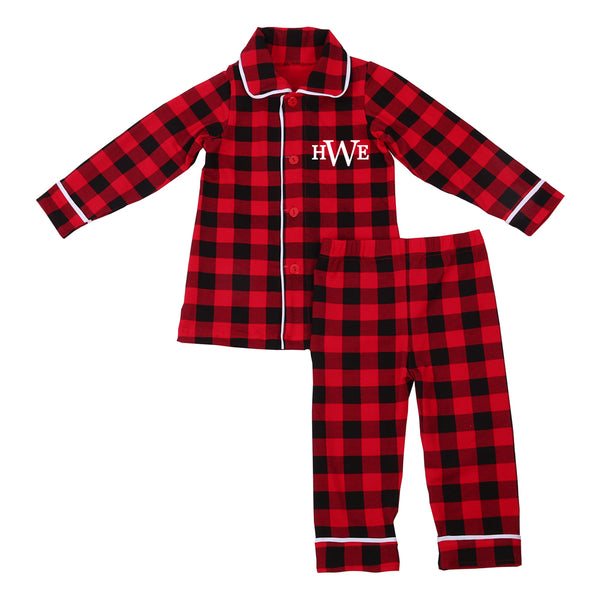 Personalized Plaid Christmas Pajamas - Kids and Adult