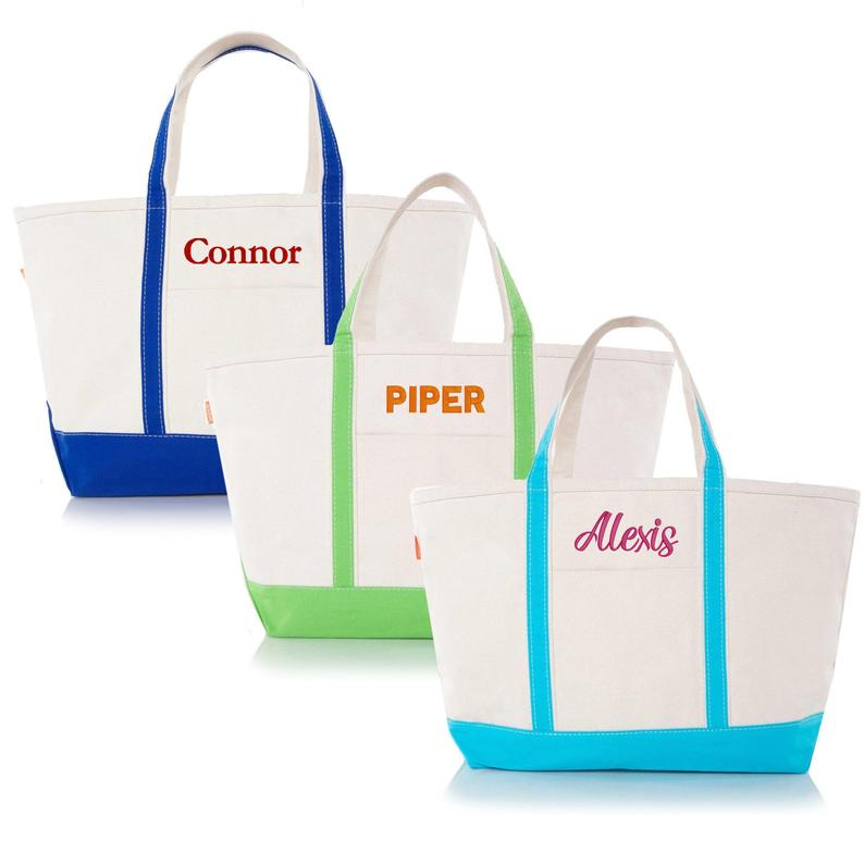 Personalized Classic Canvas Boat Tote