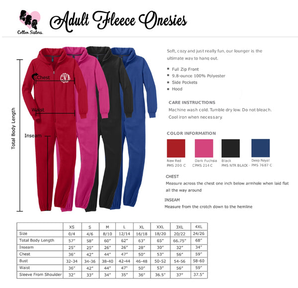 Naughty and Nice Adult Fleece Onesie Set