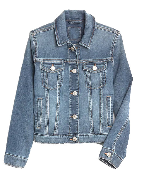 Custom Denim Jacket with Embroidered Name Sequin Patches
