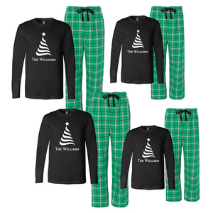 Personalized Family Christmas Tree Matching Pajama Set