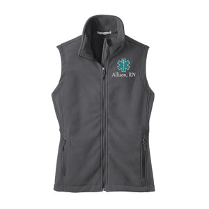 Women's Nurse Monogrammed Fleece Vest
