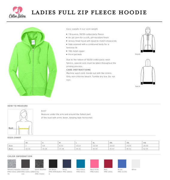 Ladies Core Fleece Full-Zip Hooded Vet Tech Sweatshirt